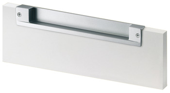 Flush handles, Zinc alloy, for seemingly handle-less fronts