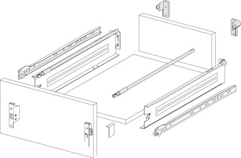 Gallery railing system, For Innobox drawers
