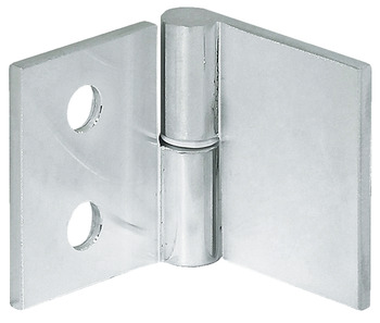 Glass door hinge, For glass/wood constructions, opening angle 180°