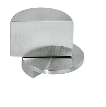 Glass door pivot hinge, opening angle 210°, stainless steel, external, for all-glass constructions