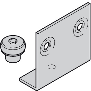 Guide, Top or bottom, with plastic spacer roller