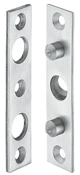 Hinge side protection, prepared for wall anchor, 100 mm
