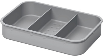 Lid with storage compartments, for One2Five waste bin systems