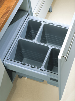 Lid with storage compartments, for One2Top functional lid systems