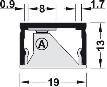 Linear lens, for profiles for under mounting 4107, 3101