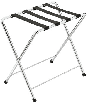 Luggage stand, Collapsible, stainless steel, Polished