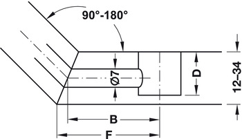 Mitre-joint connector, for double sided installation