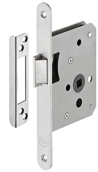 Mortise latch lock, for hinged doors, grade 3, backset 55 mm