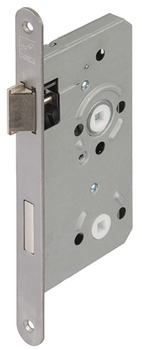 Mortise lock, for hinged doors, Startec, bathroom/WC, backset 55 mm