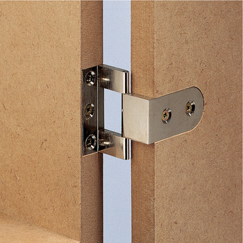 Neuform, brass, for butting overlay doors