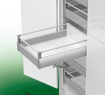 Panel brackets, For panel with round gallery rail, Grass Nova Pro Deluxe drawer side runner system, height 90 mm