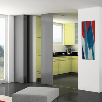 Sliding door fitting, Hawa Aperto 60/H, 60/GL Parking area set