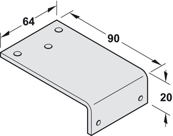 Parralel arm bracket, to suit TS 1500, 2000 & 4000