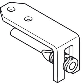 Precision marking gauge, for mitre-joint connections using Minifix, drill hole for housing