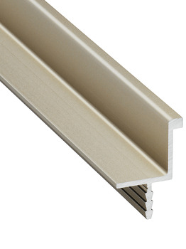 Profile handle, Aluminium, for seemingly handle-less fronts