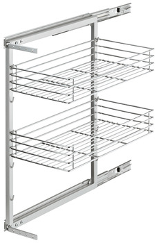 Pull-out frame, base unit pull-out, 2 baskets