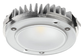 Recess mounted light/surface mounted downlight, Modular, Häfele Loox LED 2025, aluminium, 12 V