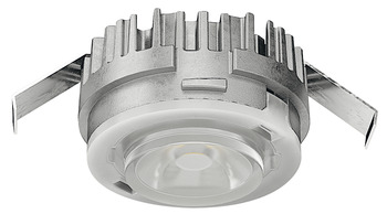 Recess mounted light/surface mounted downlight, Monochrome, Häfele Loox5 LED 3090, aluminium, 24 V