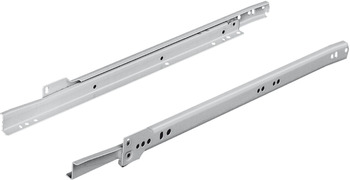 Roller runners, single extension, load-bearing capacity up to 35 kg, steel, for surface mounting