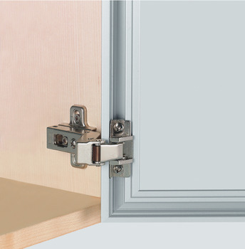 Salice 105º Practical Push Angled Hinge, For opening without handle, aluminium profile