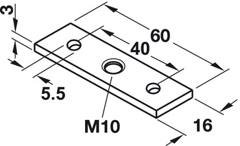 Screw-on plate, For plinth adjusting fitting