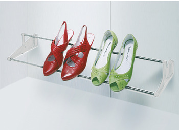 Shoe rack, Continuously width adjustable
