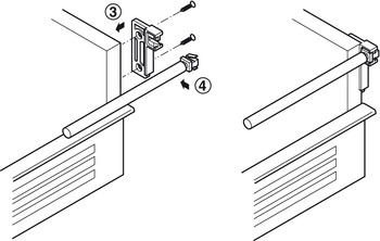 Side rail set, For single-walled drawer side runner system, Häfele Matrix Box Single A