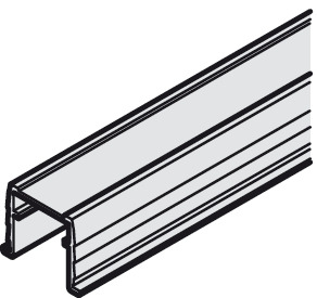 Single guide track, Bottom, for press fitting or glue fixing