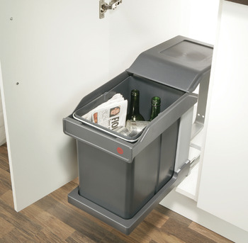 Single waste bin, 20 litres, Hailo Solo, models 3632 and 3634