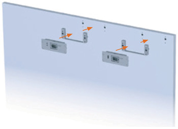 Sliding door fitting, Finetta Flatfront M 50 FB, standard set