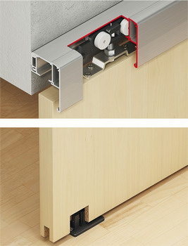 Sliding door fitting, Slido Classic 120-P, set