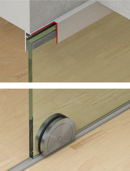 Sliding door fitting, Slido Design 150-U, set