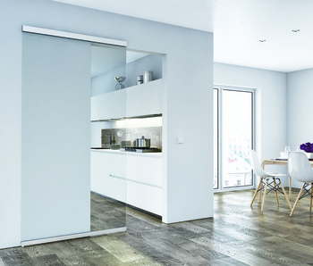 Sliding door fitting, Slido Design 80-M, set