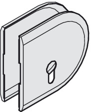 Sliding door lock, Cover cap for lock (profile cylinder)