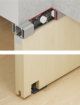 Sliding Door System, Slido Classic 40-I bis 120-I, set without running track for 1 door