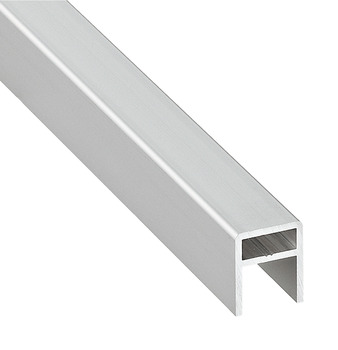 Strengthening strip, For sliding doors length 2,500 mm, aluminium