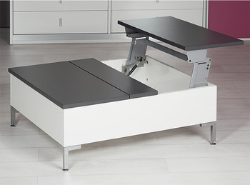 Swing Up Table Top Fitting Tavoflex With Integrated Soft Closing