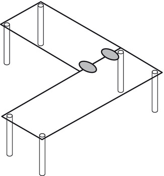 Table top connector, fixed table tops