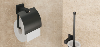 Toilet roll holder, for screw fixing