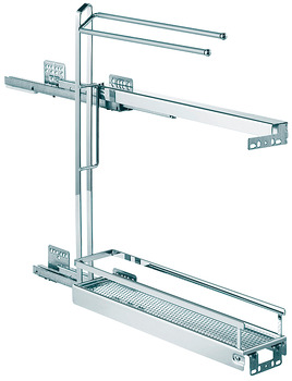 Towel rail front pull-out, Base unit, full extension with self closing and soft closing mechanisms