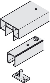 Track set, For wall pocket mounting