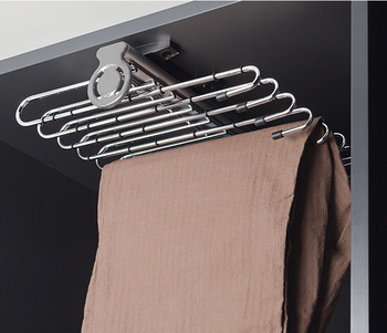 Trouser rack, extending, for 11 pairs of trousers, width 320 mm