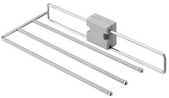 Trouser rack, extending, for 3 pairs of trousers, width 222 mm