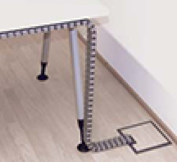 Umbilical cable guide, for floor to desk (cube)
