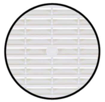 Ventilation grill, Plastic, with flanged rim