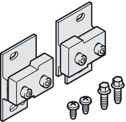 Wall mounting set, with screws