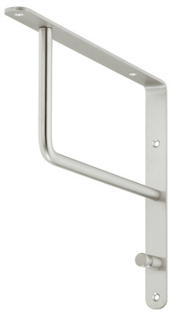 Wardrobe bracket, Stainless steel, with 1 hooks, wall mounting