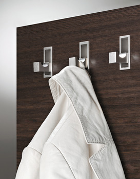 Wardrobe hook, Stainless steel, for folding