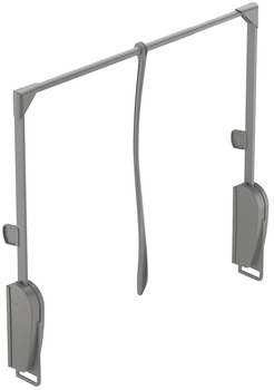 Wardrobe lift, Load-bearing capacity 8 kg, for wall mounting