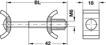 Worktop connector, standard